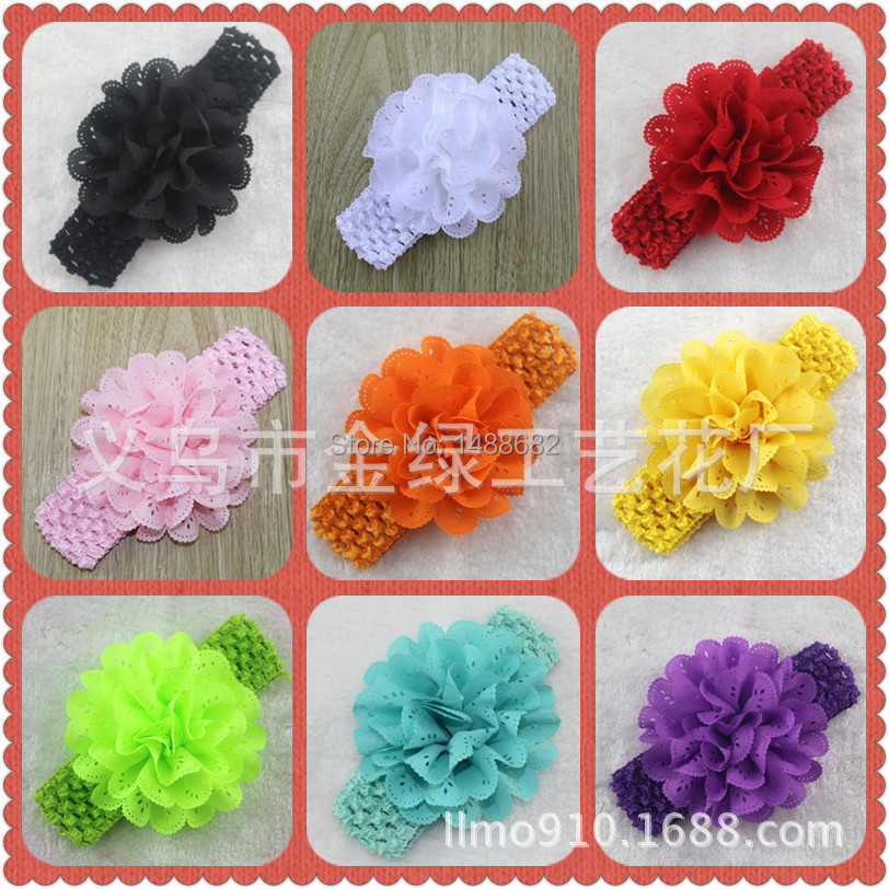 Kids Hot Sale Floral Headbands Girls Accessories The New 2015 In Europe And Hollow Out Wavy for Children 12 Color Hair Band(China (Mainland))
