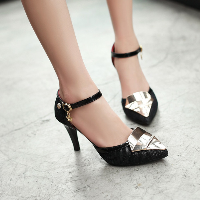 New fashion women summer sandals 2015 shoes red bottom high heels ladies party sandals pointed toe women pumps sexy stiletto