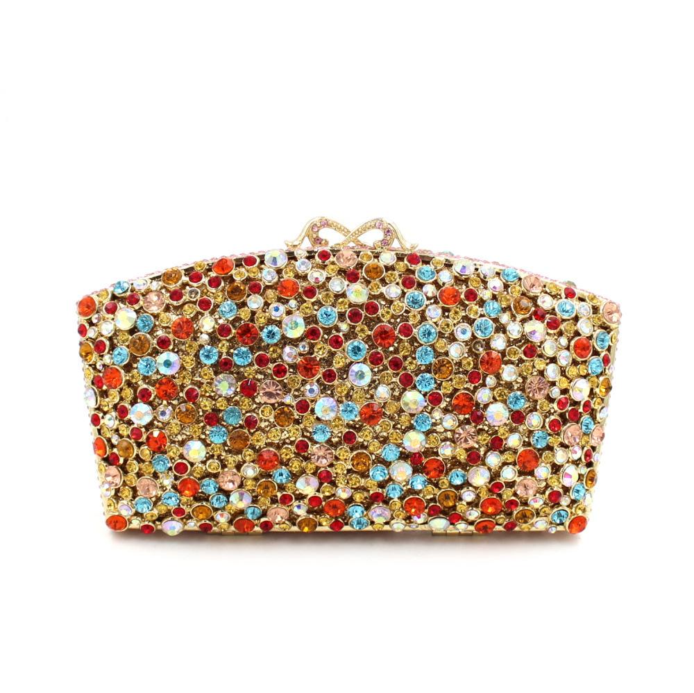 Luxury full diamond evening bag crystal diamond party bag Clutch<br><br>Aliexpress