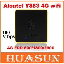 Original Unlocked 4G Wifi Router Alcatel One Touch Y853 4G Mobile Hotspot with sim card slot(China (Mainland))