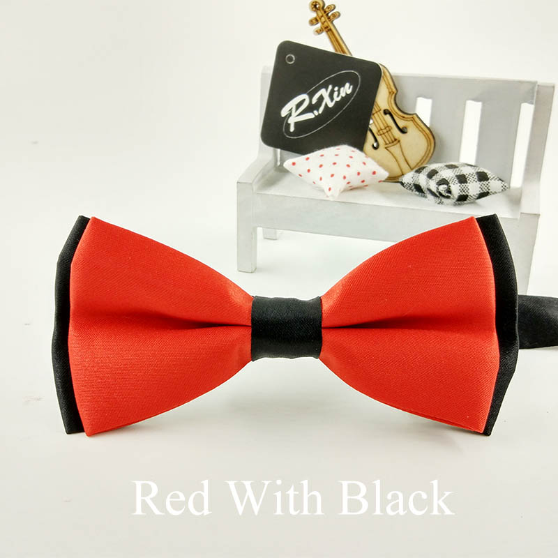 2015 New Bow tie Fashion male bow ties for men married the groom color block decoration butterfly block color bow cravat bowknot