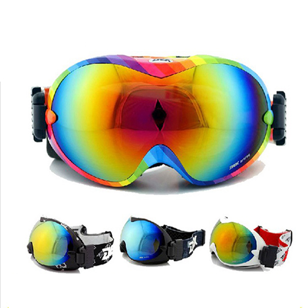 2016 Ski Goggles Double Layers Spherical Skiing Gafas Real Revo Anti Fog Snowboard Goggles(China (Mainland))