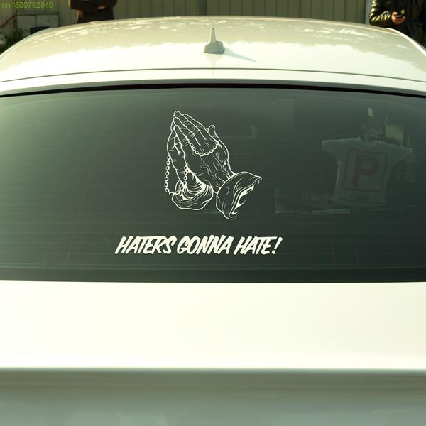 Praying hands design vinyl car stickers and decals for skoda peugeot nissan lada mazda 3 fasion