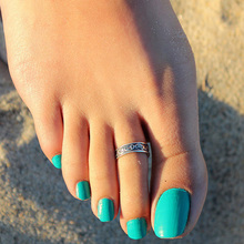 2014 New Hot Selling Retro Carved Leaves Open Joint Ring Foot Ring For Women