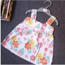 Free shipping 100% cotton cool dress for girl baby girl printed dress floral clothing for newborn 6M to 24M(China (Mainland))