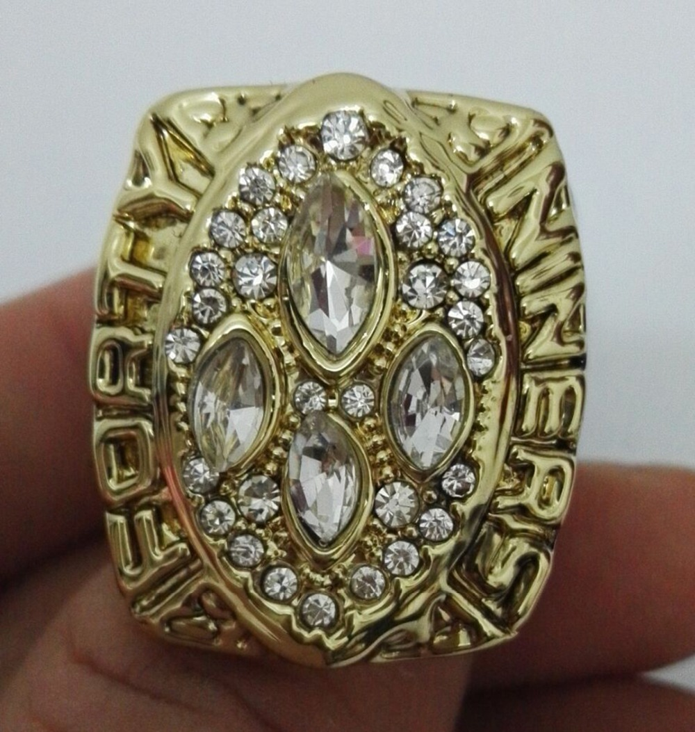 Wholesale Super Bowl 1989 San Francisco 49ers Zinc Alloy 24K gold plated Custom Sports Replica World Championship Ring for Fans(China (Mainland))
