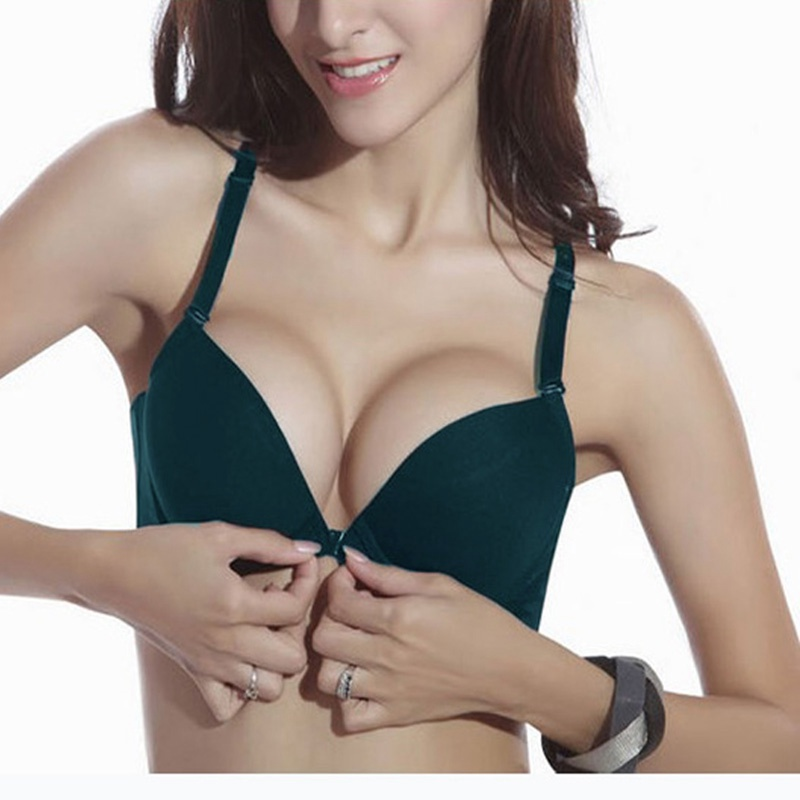 High Quality 2015 Zanzea Women Plus Size Push Up Bra Sexy C Cup Front Closure Brassiere Girls Seamless Adjustable Bras 4 Colors