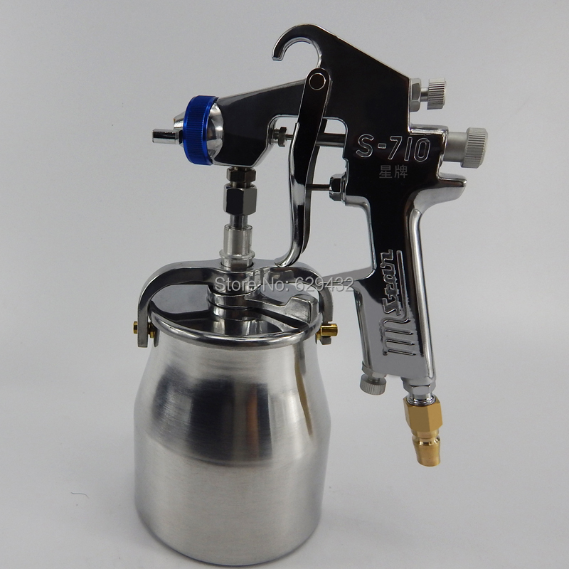 Фотография Hot sale TAIWAN STAR S710S spray gun with 400cc plastic cup used for furniture and household decoration/free shipping
