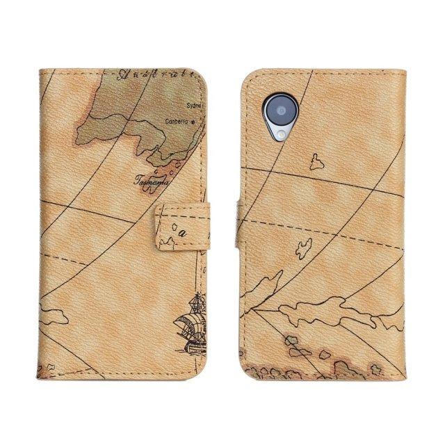 Case for Google LG Nexus 5 E980 map pattern leather cell phone bags leather wallet protective cover Retail And Wholesale(China (Mainland))