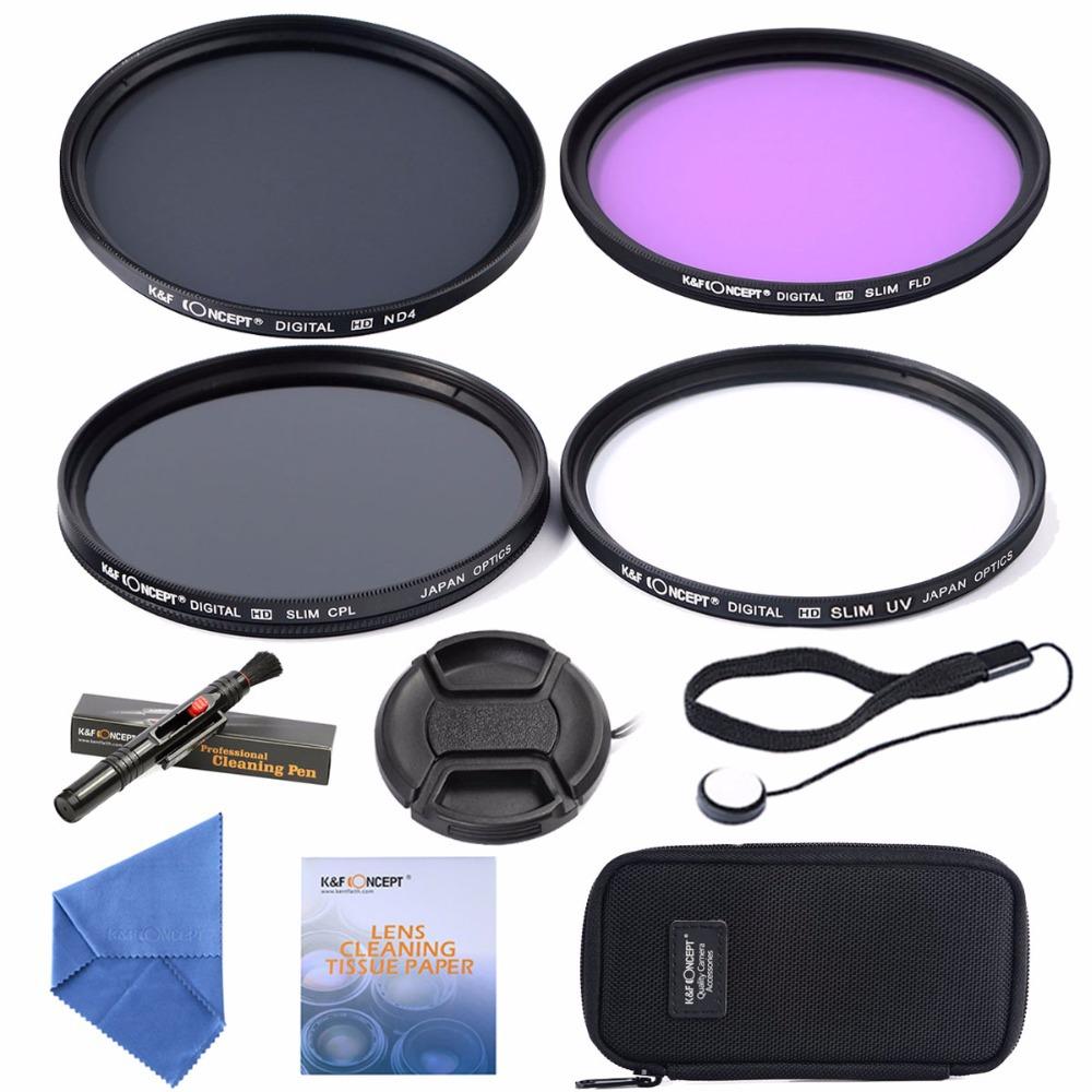55mm UV CPL FLD ND4 +Cleaning kits+ pouch bag Filter Kit Lens Filter Kit for Nikon D7100 D7000 D3100 D3000 Dslr Camera(China (Mainland))