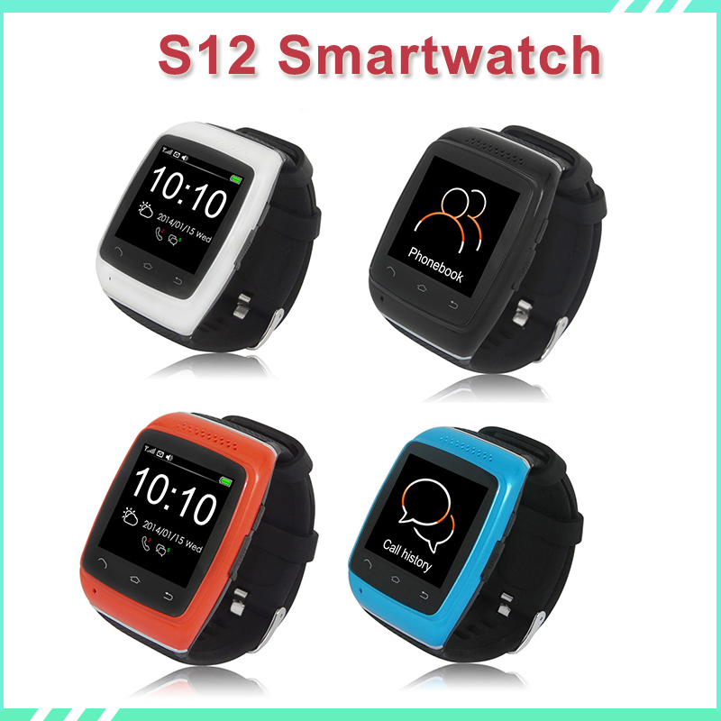 Original Bluetooth Smart Phone Watch S12 SmartWatch wristband android watches Sync SMS Phonebook reloj for Android Samsung sony