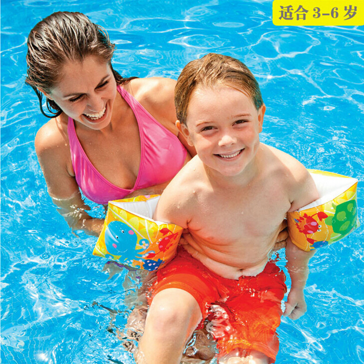 Baby Float Limited Intex Flotador 2015 Hot Sell Usa Genuine Fun Fish Arm Circle Children Swimming Inflatable Ring For 3-6 Years(China (Mainland))