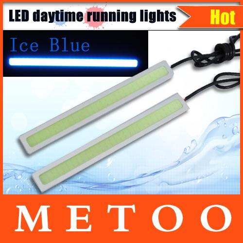 2pcs 17cm Waterproof Ultra Thin 9W COB LED Daytime Running Light New update LED Bar DIY DRL Fog Car Day Running Lights Ice Blue(China (Mainland))