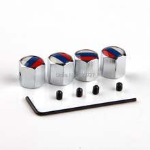 4pcs/set Theftproof Stainless Steel Russian Federation Flag Car Wheel Tire Valves Tyre Stem Air Caps Airtight Cover Silver White