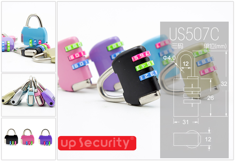 Spring steel cable combination lock protable bike wire lock password lock travel luggage padlock