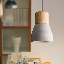 Creative wood and cement pendant lights Country style pendant lamp restaurant bar coffee cement light
