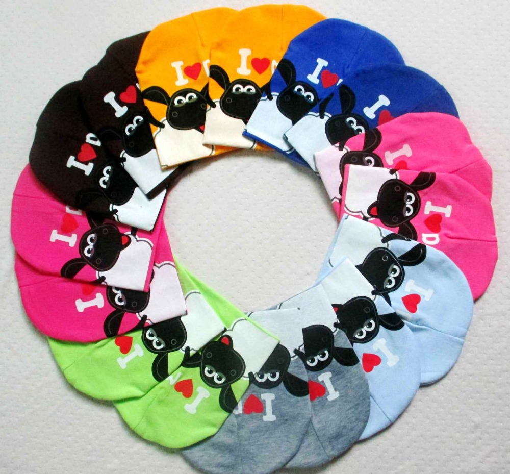 2016 new baby hat knitted Shaun sheep spring fall baby hat I LOVE MAMA PAPA infant cap Cotton children Beanies ld67(China (Mainland))