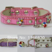 Accessories add color plum colored pendants crocodile dog collar Pet Supplies Collar Necklace