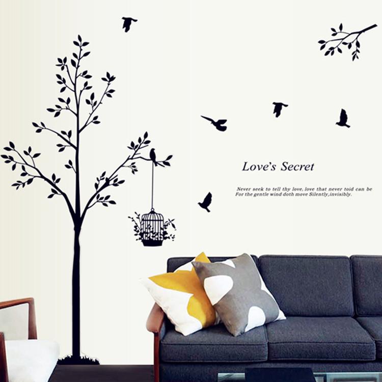 Vogelkooi kunst aan de muur promotie winkel voor promoties vogelkooi kunst aan de muur op - Kunst en decoratie kamer ...