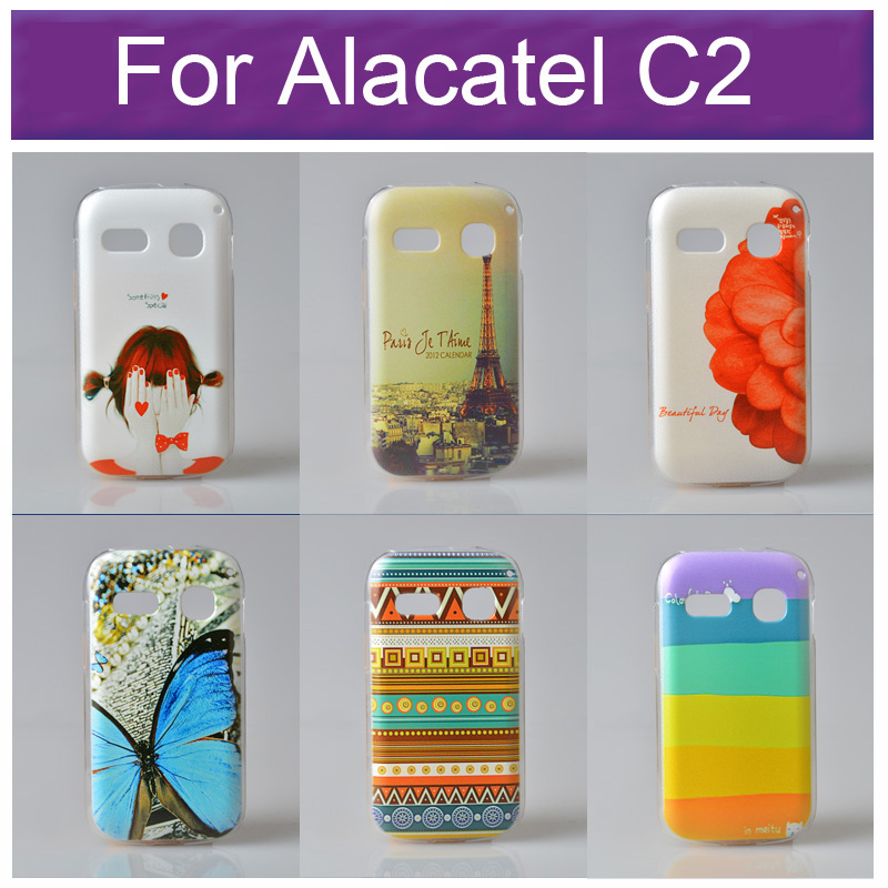 Beautiful Drawing Cover for Alcatel One Touch POP C2 4032 4032A 4032D 4032E 4032X Phone Case With Different Pattern Options(China (Mainland))