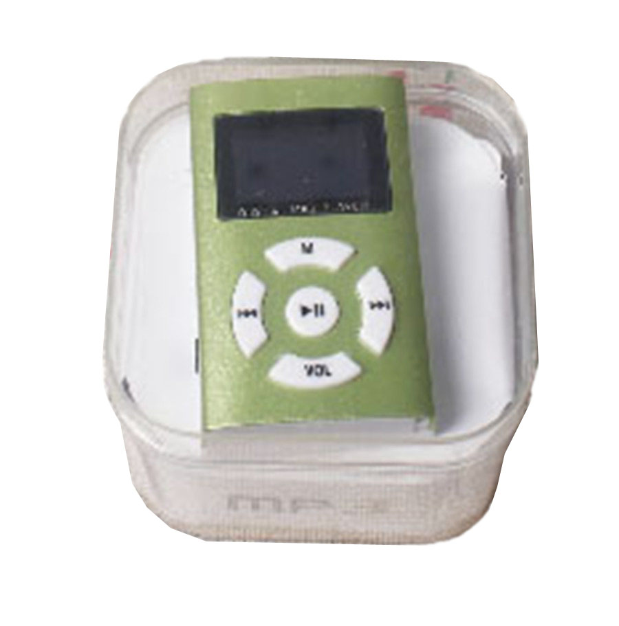 LCD screen mp3 player music metal player support 2-32GB TF card mp3 + earphone +cable cord+cystal box(China (Mainland))