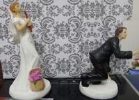 Funny fishing Cake Topper  2015 fashion wedding resion cake topper  free shipping
