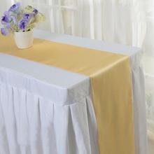 10pcs/set Satin Table Runners 30x250cm Wedding Party Banquet Decoration events supplies party decoration 25 Colors - Home Time Store store