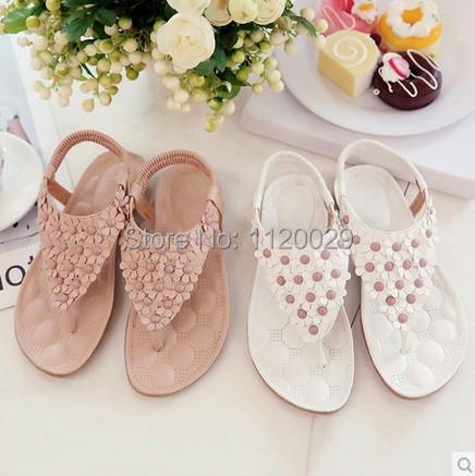 2015 New Summer Women Sandals Flats Shoes Woman sandal Slide Slippers Women's Shoes Flip Flower Flip-flop Woman Fashion Slippers(China (Mainland))