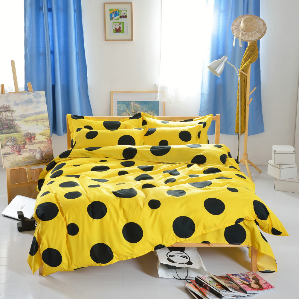 jaune linge de lit promotion achetez des jaune linge de lit promotionnels sur. Black Bedroom Furniture Sets. Home Design Ideas