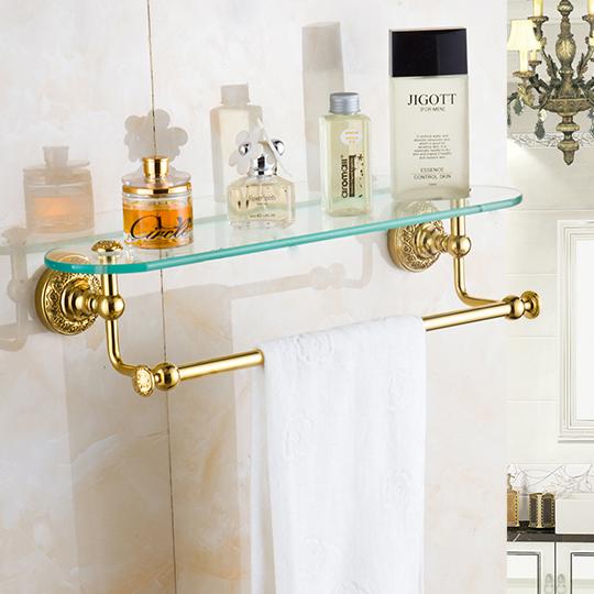 Wall Mounted Glass Shelf For Shower Bathroom Storage Holder Bathroom