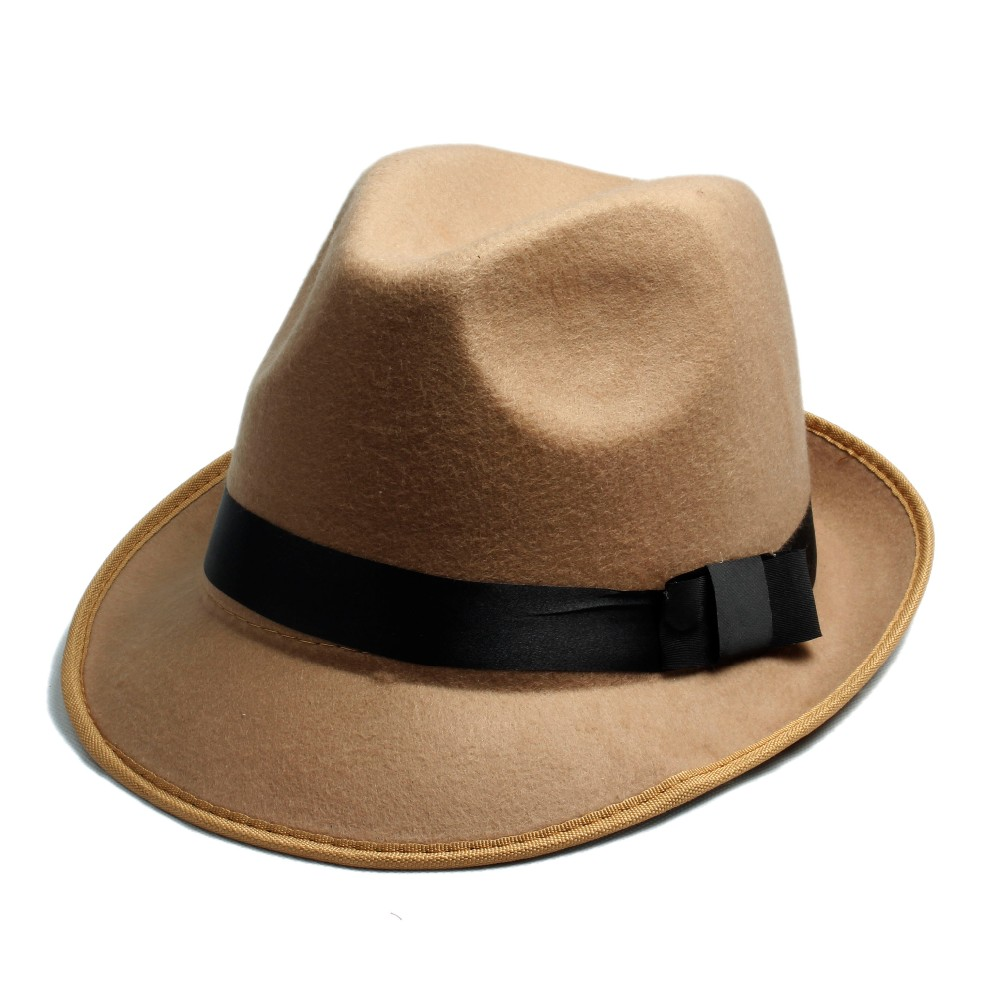 2019 Wholesale Women S Men S Fedora Crushable Genuine Felt Bush Sun ... d909e5717a13
