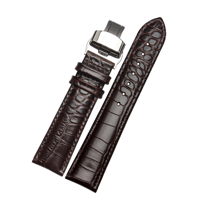 New High Quality Genuine Leather Watchband 18/19/20/21/22/mm Black/Brown Watch Strap Adaptation All Brand General(China (Mainland))