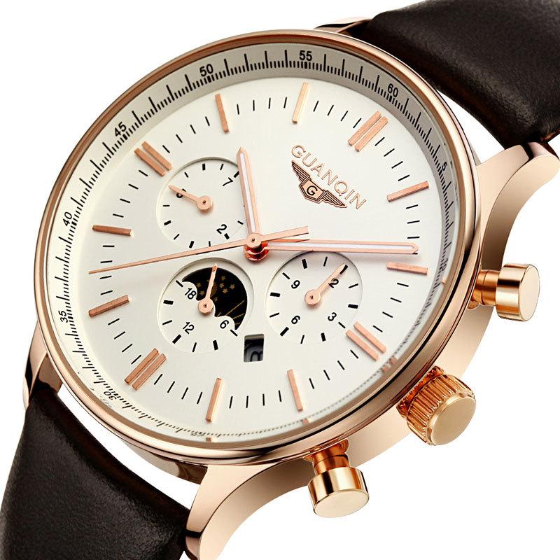 2015 Watches Men Luxury Top Brand GUANQIN Fashion Men s Quartz Watch Sport Casual Wristwatch Relogio