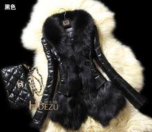 New Style Fashion Women Slim Winter Faux Fur Coat Winter   female coat and long sections Nagymaros collar coat female models(China (Mainland))