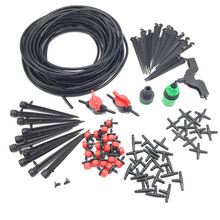 Garden Irrigation Set 108 Pcs 20m 4 / 7mm Hose DIY Gardening Sprinkler Head Hose Bracket Fast Interface Hole Puncher Plug Tee(China (Mainland))