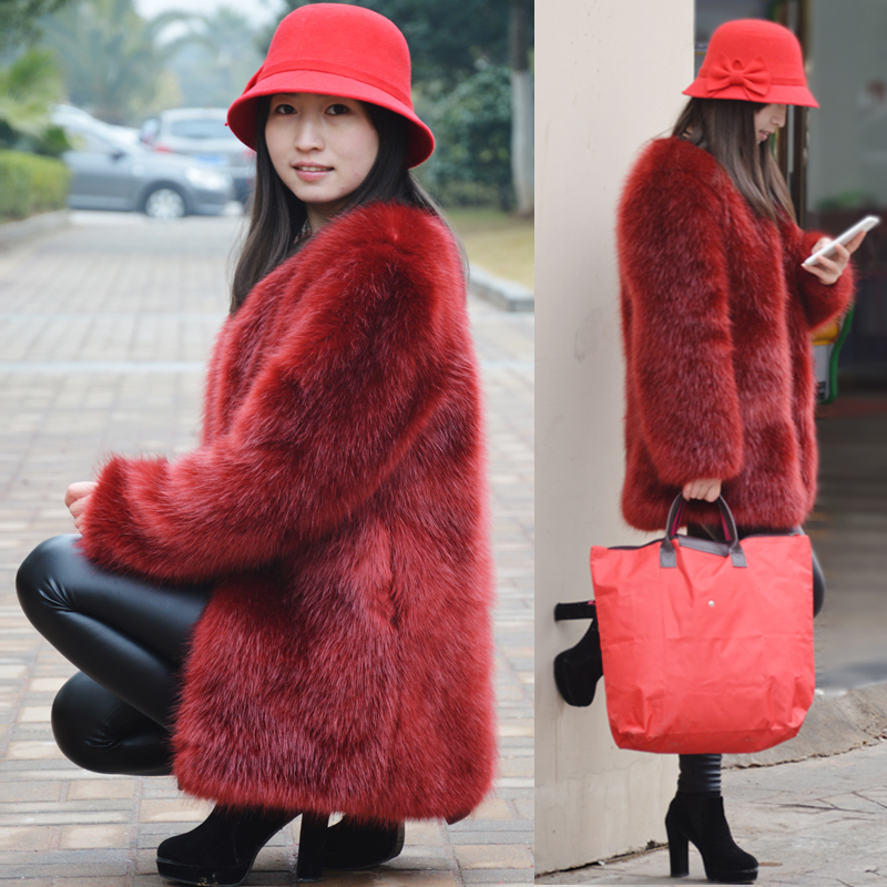 Compare Prices on Wine Red Faux Fur Coat- Online Shopping/Buy Low