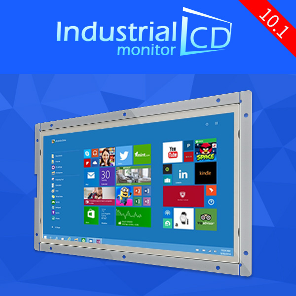 10.1 inch industrial monitor LCD monitor display HD multifunctional monitor IPS monitor with VGA/AVTV/HDI/USB(China (Mainland))