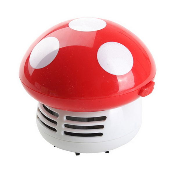 Mushroom Shaped New Portable Corner Desk Vacuum Cleaner Mini Cute Vacuum Cleaner Dust Sweeper Desktop Vacuum Cleaner Cartoon Mu(China (Mainland))