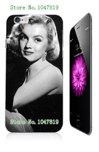 Mobile Phone Cases 2016 Marilyn Monroe Design Plastic White Hard Case For iphone 6/6s plus Free Shipping