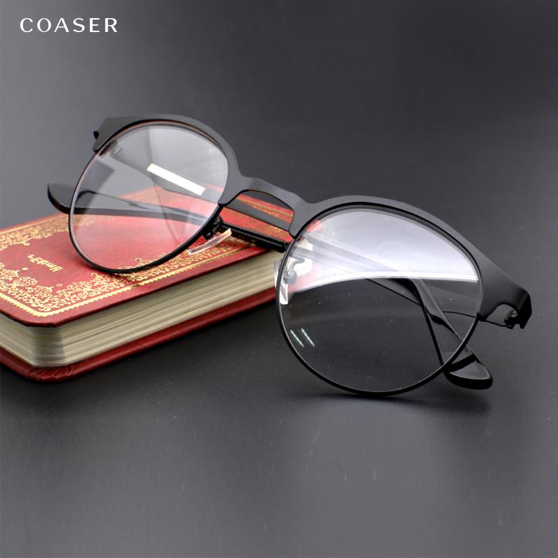 vintage glasses wide spectacle men round metal eyeglasses frame reading eye glasses myopia presbyopic prescription eyewear