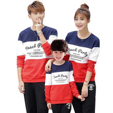 Mon Dad Daughter Family Costumes Boy Girl Kid Clothing Father Son Mother Matching Clothes Print Long Sleeves Shirt Family Look(China (Mainland))