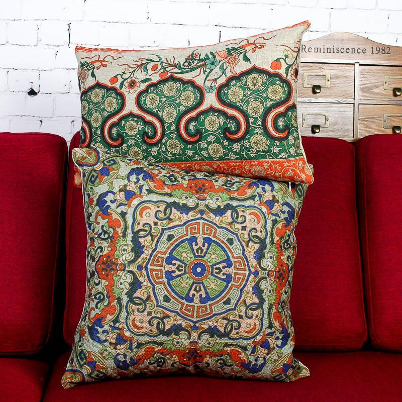 Free shipping classical Chinese style cotton pillow cushions ethnic Cushion Covers creative stylish Cushions Home Decor