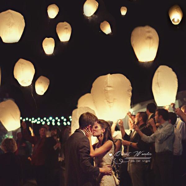 80pcs/lot SKY Balloon Kongming wishing Lanterns,Flying paper lantern Light Halloween Lights Chinese sky Lantern(China (Mainland))