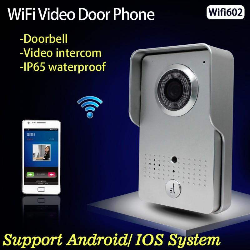 Apartment Building Video Intercom Doorbell Door Phone Wifi Support Remotely Unlock Door & Video Talk on Mobile Phone(China (Mainland))