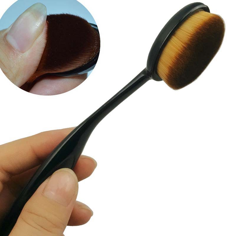 New 1Pcs Power Makeup Brush Beauty Oval Cream Puff Cosmetic Foundation Blend Tools Random Color Free Shipping<br><br>Aliexpress
