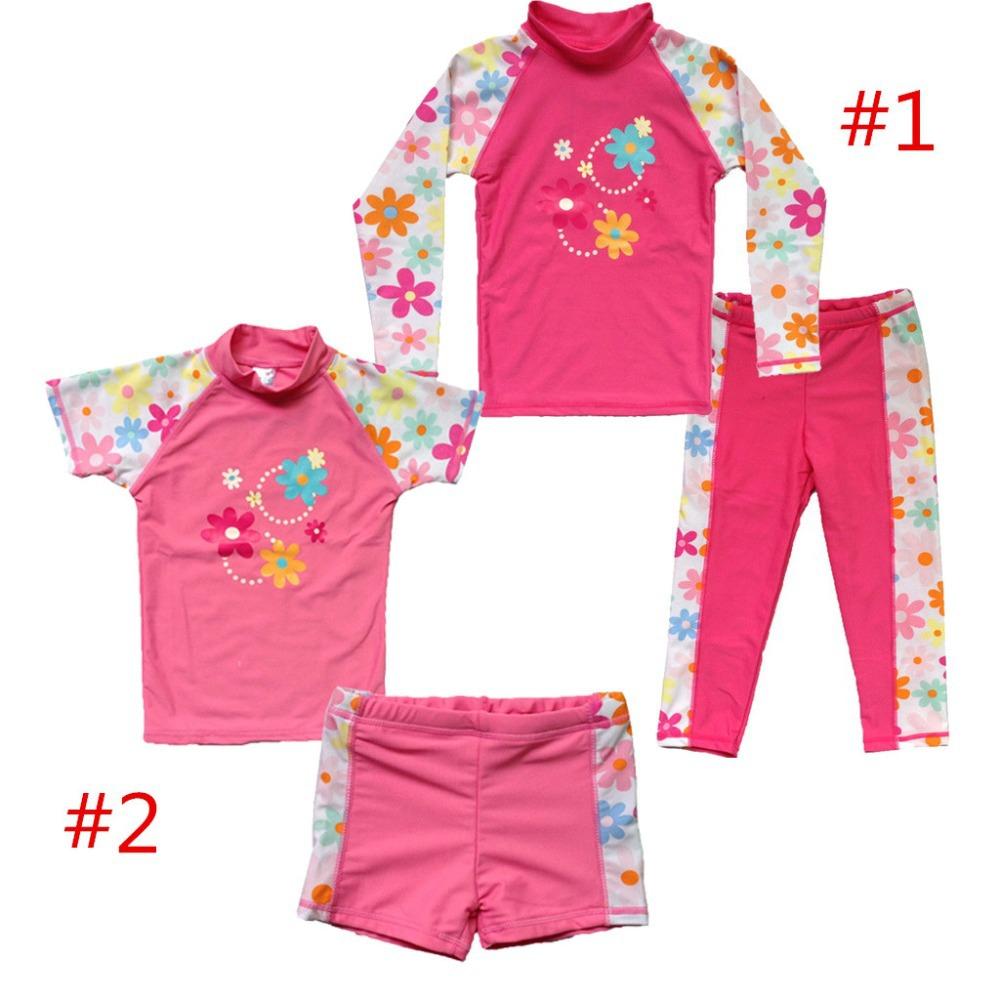 Retail Children Girls Kids Pink UV Protective Sunsuit ...