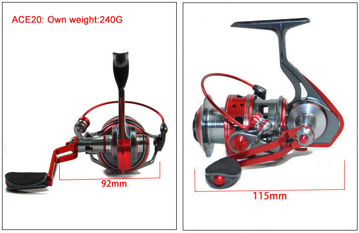 High Quality Catking ACE20 All Metal Spinning Fishing Reels Waterproof Wheel Spinning Reel ACE30 ACE40<br><br>Aliexpress