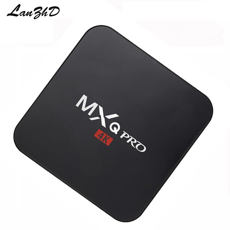 MXQ PRO smart TV Box Amlogic 4K S905 64bit Android TV Box WIFI Quad Core Google