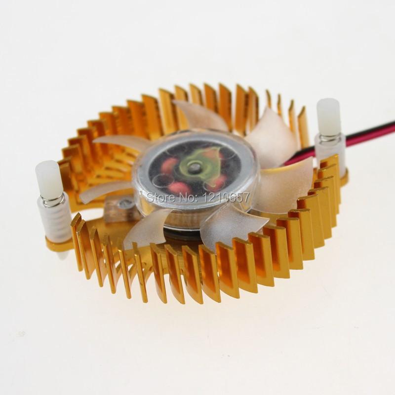 1PCS 1PCS 55mm Hole Size 2pin 12V PC GPU VGA Video Card Heatsink Cooler Cooling Fan <br><br>Aliexpress