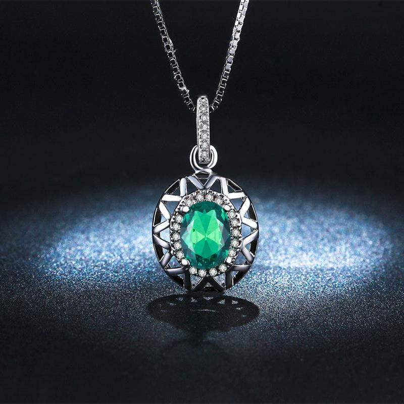 Luxury Choker Turquoise AAA CZ Diamond Jewelry Pendants White Gold Plated Necklace Women Party Vintage Accessories Collier QN006(China (Mainland))